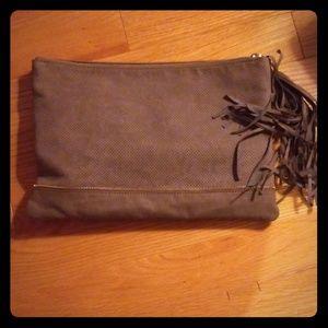 Beautiful velvet Deux Lux clutch purse